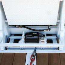 Optional hydraulic winch