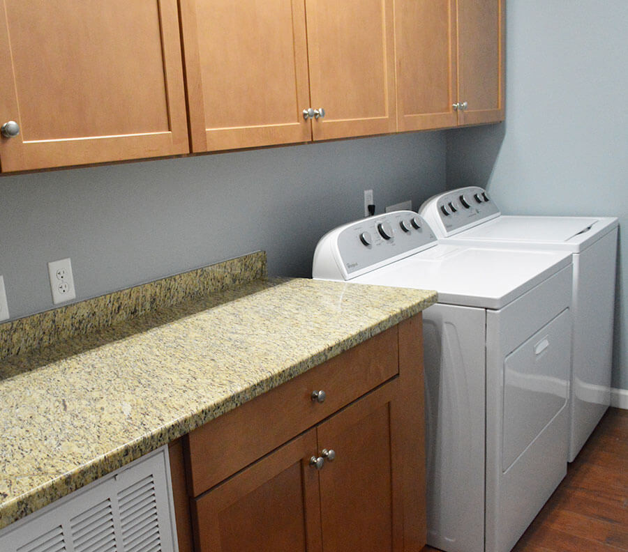 Laundry facilities can be incorporated.