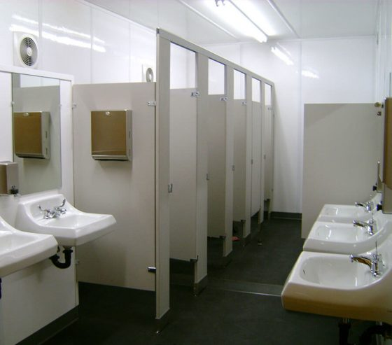Xtreme Cube restrooms are designed to maximize space and functionality.