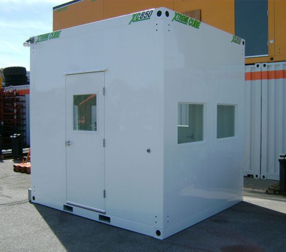 Gatehouses are highly portable and can be repositioned around site perimeters as required using a forklift.