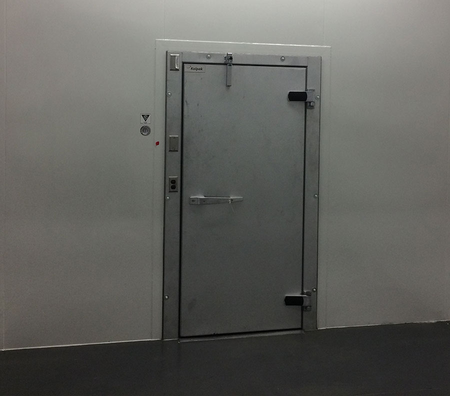 Heavy duty doors are used to control access and maintain a clean environment.