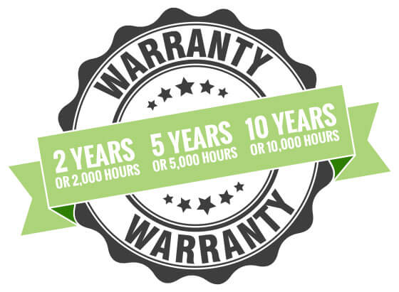 Xtreme's industry-leading 10 year – 5 year – 2 year warranty