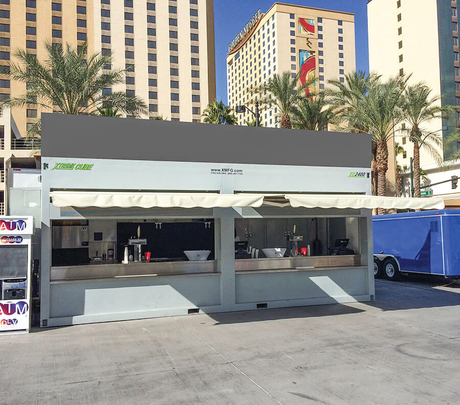 Professional bar service can be provided from these temporary event bar cubes.