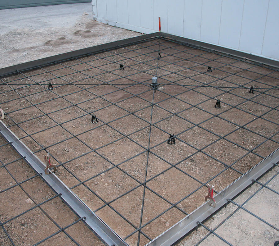 "The ""X"" rebar formation ensures a perfectly square tile."