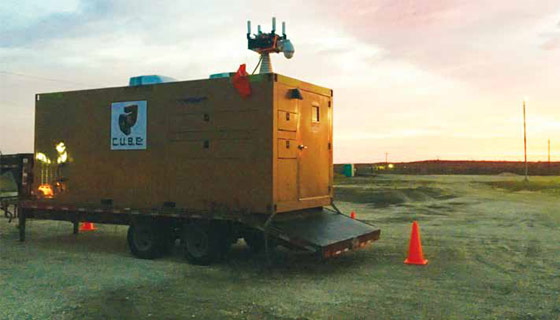 Xtreme Cube supplies turn-key mobile command center for drone-based inspections