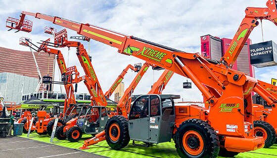 The Xtreme XR1585-C is the World's tallest fixed boom telehandler